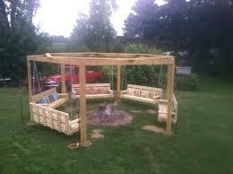 Backyard Swing Set Ideas Outdoor Wood Swing Set Plans Backyard Swing Bench Small Backyard