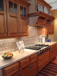 maple cabinets tin backsplash traditional kitchen other