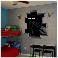 chambre minecraft minecraft sticker adhésifs muraux maison decoration minecraft