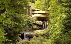 frank lloyd wright waterfall house fallingwater in stewart