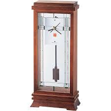 Mantel Clocks Bulova Frank Lloyd Wright Willits Mantel Clock B1839 Clocks