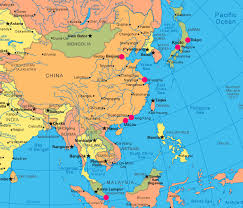 map of asia countries and cities map of asian cities major tourist attractions maps
