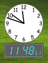afficher l heure sur le bureau télécharger clock gratuit