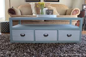painted coffee tables with drawers designs