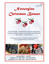norwegian church christmas bazaar 7 8 november bethesda