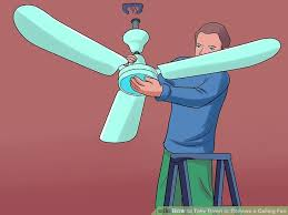 Ceiling Fan Hanger Bar by 2 Easy Ways To Take Down Or Remove A Ceiling Fan Wikihow