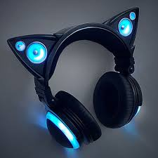 light up cat headphones cat ear headphones these are so cute but there expensive i don t