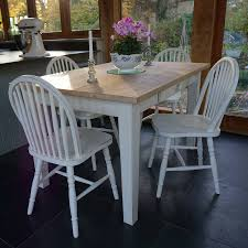 fonthill table with hoop back chairs hand painted by rectory blue