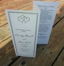 personalized wedding programs personalized platinum hearts wedding program wedding or special
