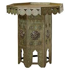 Copper Side Table Small Oriental Octogonal Copper Side Table Early 1900s For Sale