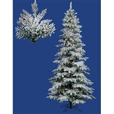 northlight 10 ft pre lit snow flocked layered utica fir slim