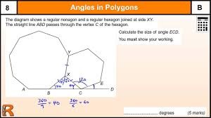 Regular Pentagon Interior Angles Angles In Polygons Exterior U0026 Interior Gcse Maths Revision Exam