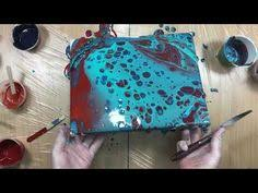acrylic pouring monochromatic with paint color mixing demo