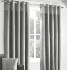 Grey Faux Suede Curtains Ring Eyelet Top Curtains Black U0026 Grey Colours