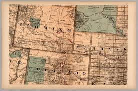 Nebraska State Map by Map 11 Wyoming Nebraska Colorado Kansas South Dakota