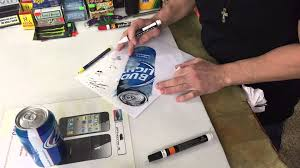 bud light beer can 3d levitating bud light beer can optical illusion art drawing draw