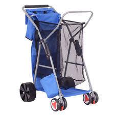 Rolling Beach Chair Cart Wonder Wheeler Beach Cart Ebay