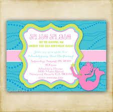 little mermaid baby shower invitations afoodaffair me