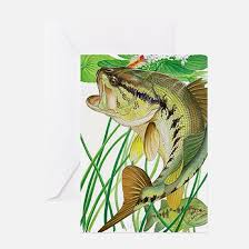bass fishing greeting cards cafepress