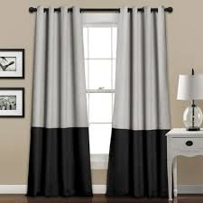 Black And Gray Curtains Buy Black And Gray Curtains From Bed Bath Beyond