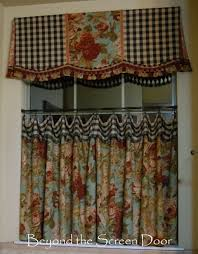 Toile Cafe Curtains The Most Asked About Cafe Curtain Valance Sonya Hamilton Designs