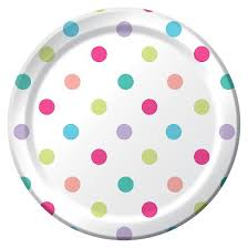 10ct snack plates multicolored dots spritz target