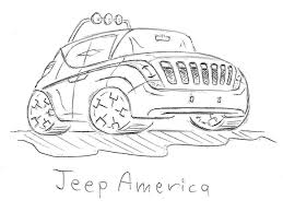 jeep front drawing sketches by gabor baranyai at coroflot com