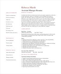 Manager Resume Sample by 8 Retail Manager Resumes Free Sample Example Format Free