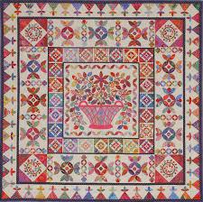 flower garden quilt pattern flower basket medallion from glorious color kaffe fassett