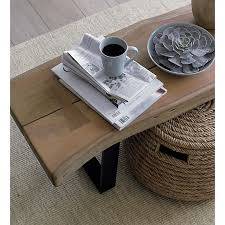 crate and barrel nesting tables yukon coffee table bench crate and barrel natural living