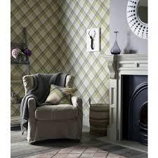 green wallpaper room tartan wallpaper feature wall decor new green pink red gold plum new