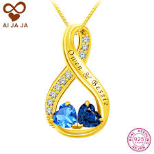 engraved pendants aijaja 925 sterling silver infinity necklaces pendants personalized