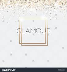 Gold Invitation Card Glamour Invitation Card Fashion Show Vip Stock Vector 527340688