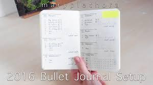 2016 bullet journal setup youtube