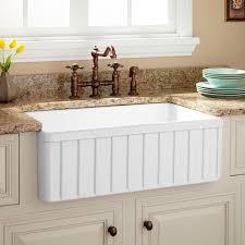 Farmhouse Sinks For Kitchens White Farmhouse Kitchen Sink Visionexchange Co