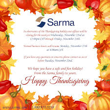 sarma sarma s thanksgiving hours