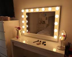 Makeup Vanity With Lighted Mirror Vanity Mirror Etsy