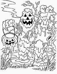 Halloween Themed Coloring Pages by Scary Halloween Printable Coloring Pages Free Printable Halloween