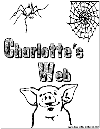 charlotte web coloring pages funycoloring