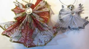 crafty maria u0027s stamping world wired ribbon angel ornaments