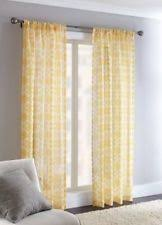 Yellow Sheer Curtains Home Trends Polyester Curtains Drapes Valances Ebay