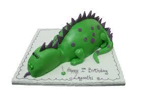 dinosaur scene birthday cake