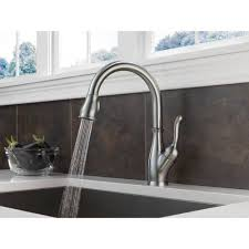 leland delta kitchen faucet delta leland kitchen faucet with pull spray available in