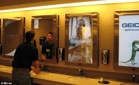 Bathroom Mirrors Chicago Digital Adverts On Chicago Airport S Mirrors Target You In The