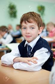 Picture Of Student Sitting At Desk Diligent Student Sitting At Desk Classroom Stock Photo Picture