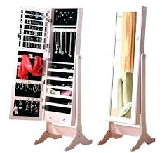 standing mirror jewelry cabinet wall mirrors full length wall mirror with jewelry storage inside