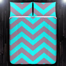 Chevron Bedding Queen Turquoise Aqua Gray Chevron Duvet Cover Bedding Queen Size