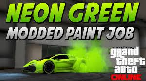gta 5 neon grüne lackierung gemoddete crew color best gta v