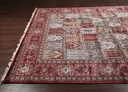 Persian Rug Mouse Mat by Rugsville Kashmir Silk Red Black Hand Knotted Silk Rug 8 U0027 X 10