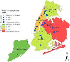 Map Of Manhattan Neighborhoods Compliance With Minimum Price And Legal Age For Cigarette Purchase